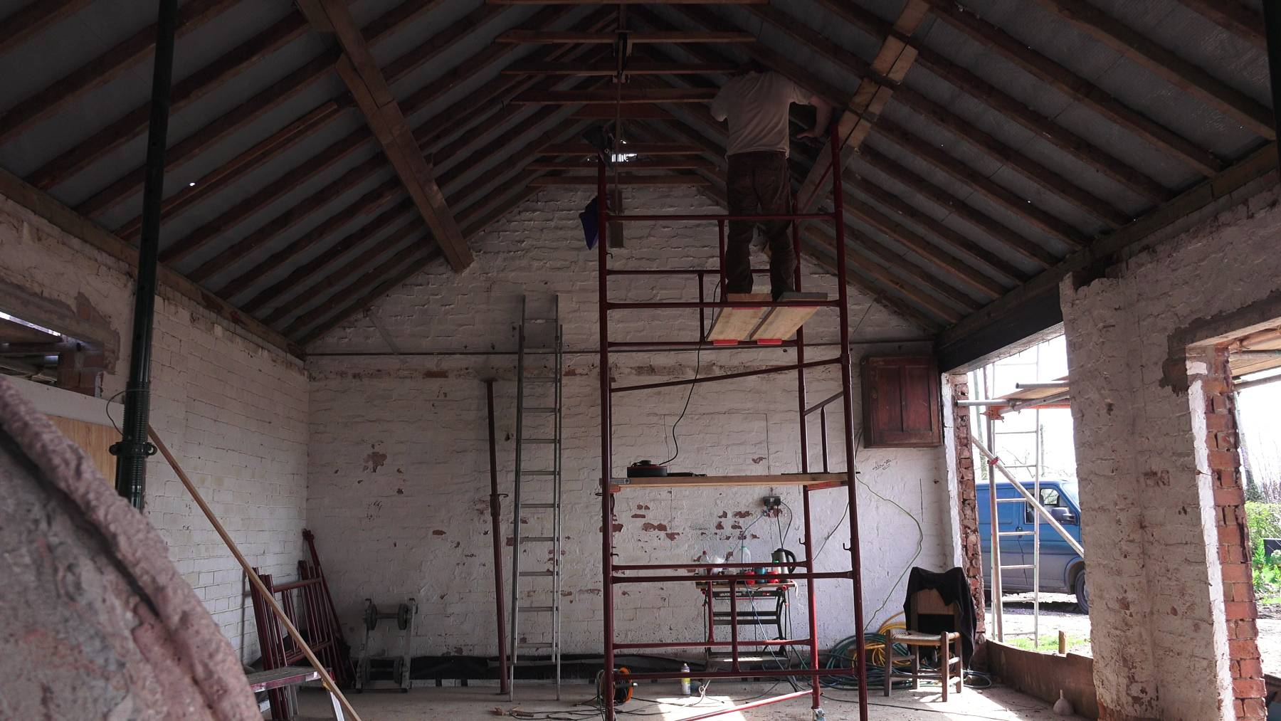 Roofing King Truss And Purlins Goosemoor Smithy Barn